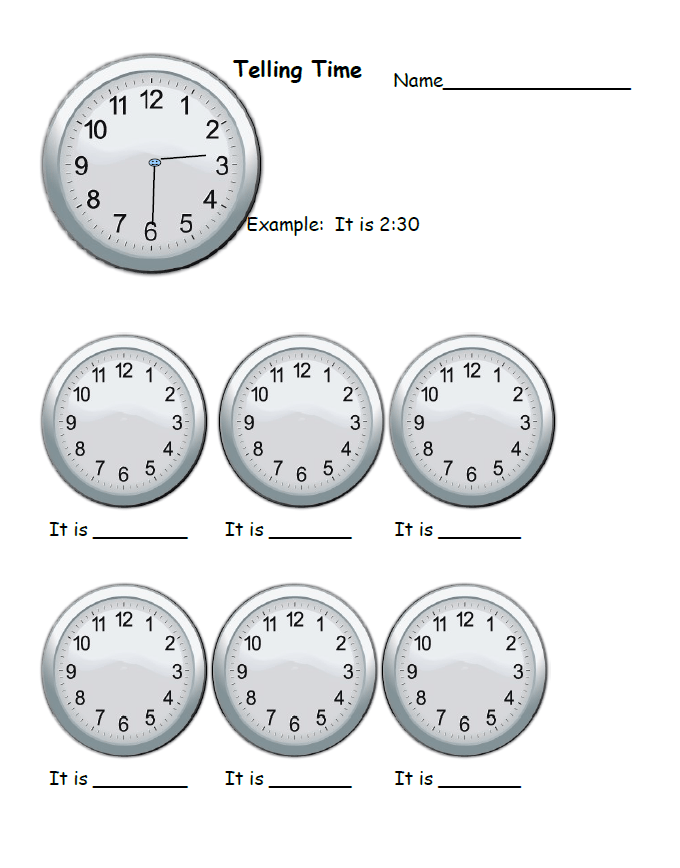Telling Time Worksheet 2nd grade