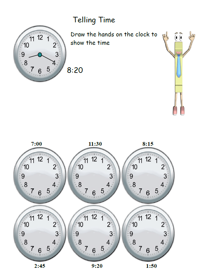 Learning to tell time worksheets FREE Download and a video goes – 2nd Grade Telling Time Worksheets